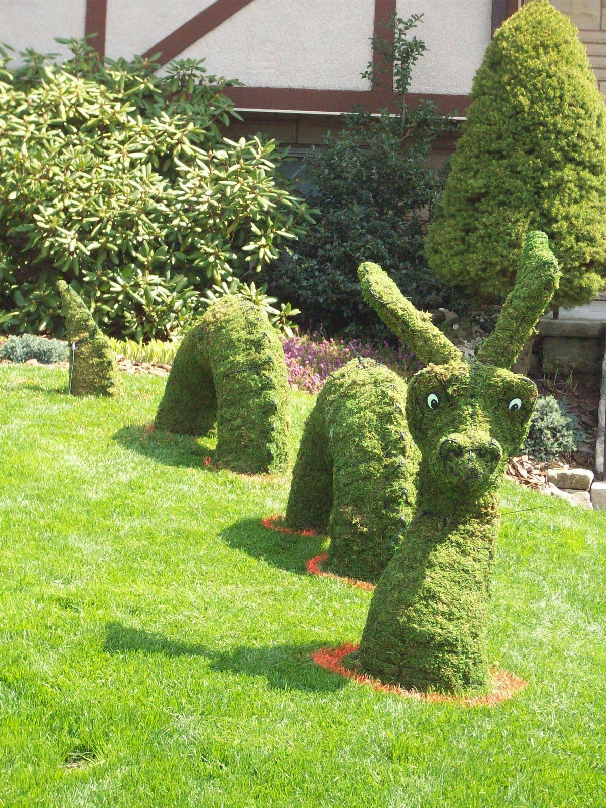 decoracin para jardines figuras de animales realizadas en alambre y musgo con o sin plantas esculturas verdes