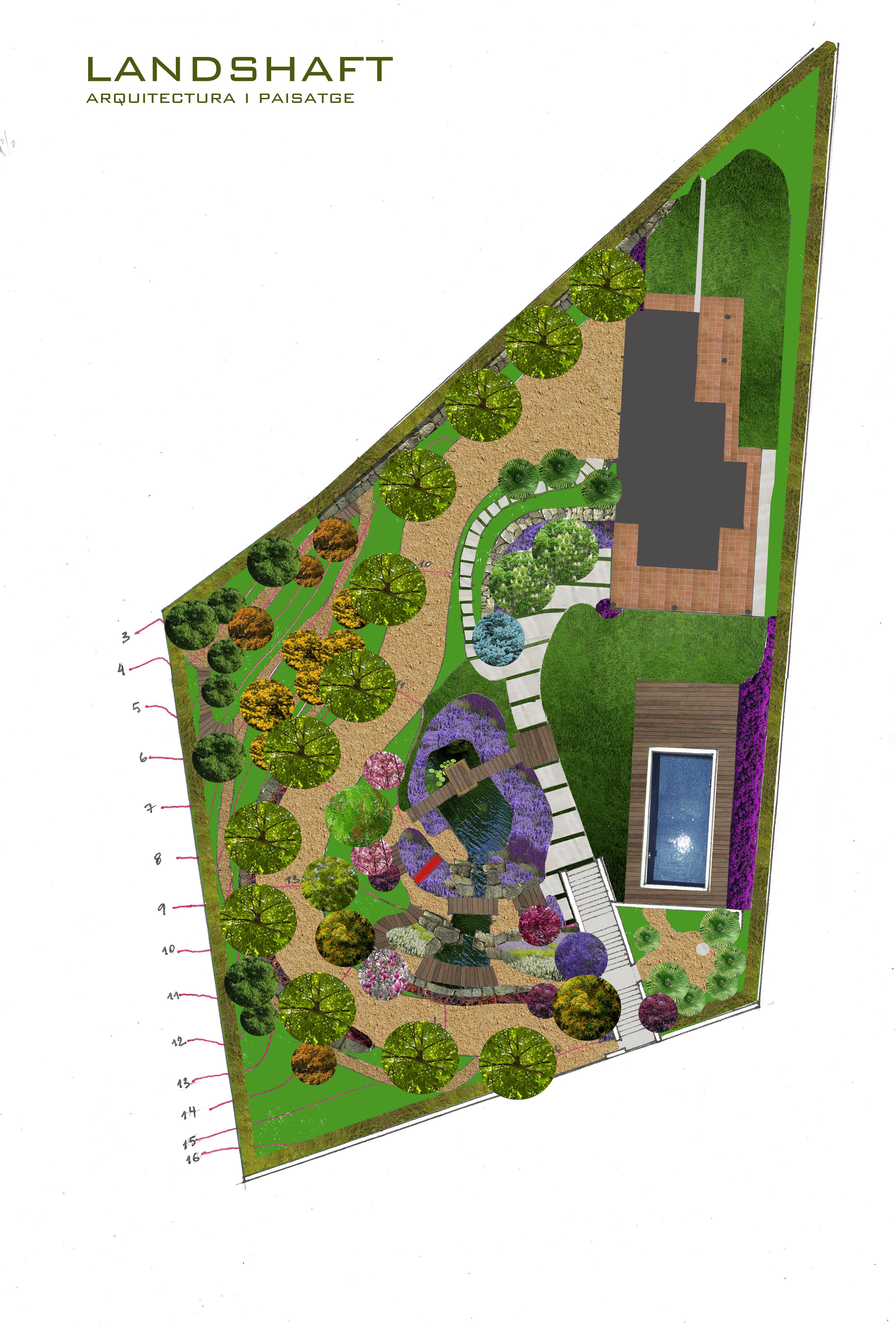 Dise o de jardines y espacios landshaft empresa de for Diseno de jardines barcelona