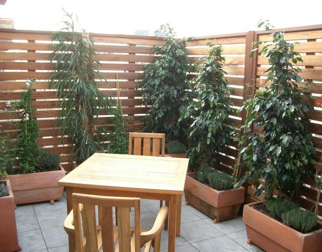 Madera para exterior landshaft empresa de paisajismo - Celosia con jardinera ...