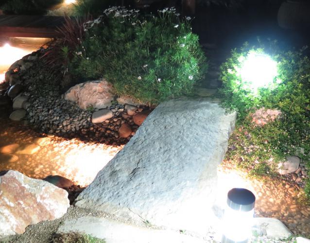 foco jardin iluminacion puente